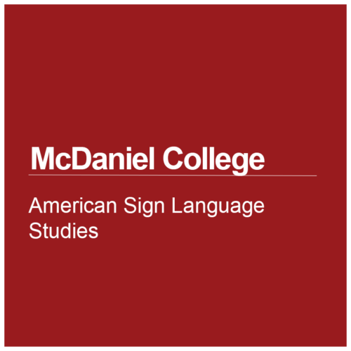 American Sign Language Studies at McDaniel College